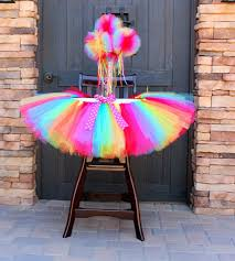rainbow high chair tutu rainbow tutu high chair decoration first birthday party