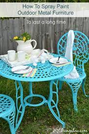 painting metal outdoor furniture patio