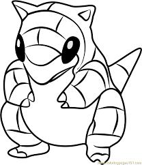 Pokemon Kleurplaat Sand Mlarbilder Pokemon Sandslash Teckningar