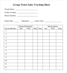 Ticket Sales Spreadsheet Template Free 5 Sample Sales Trackings In Word Pdf