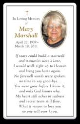 Funeral Remembrance Cards Personalized Memorial Cards Funeral Cards Prayer Cards