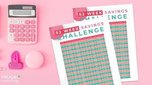 Weekly Saving Plan Chart 52 Week Savings Plan Printable Challange Pdf