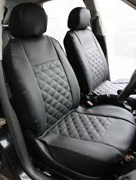 nissan x trail front pair of luxury knightsbridge leather look car seat covers