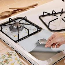 4pcs/set <b>Gas Stove Cooker Protectors</b> Cover/liner Clean Mat Pad ...