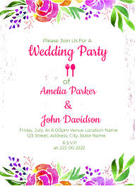 Invitation For Party Template Magnificent 48 Wedding Party Invitation Templates Free Sample Example Format