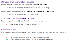 When Do I Use A Comma Punctuation Basic Teletype