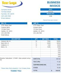 Free Business Invoices business invoice template business invoices templates free excel 43