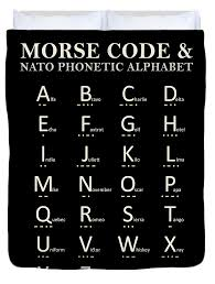 British forces adopted the raf phonetic alphabet, which is similar to the phonetic alphabet used by the after world war ii, with many aircraft and ground personnel from the allied armed forces, able. Morse Code And Phonetic Alphabet Duvet Cover For Sale By Mark Rogan