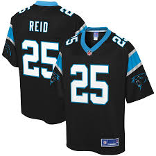 Carolina Panthers Mens Eric Reid 25 Nfl Pro Line Black Game Jersey