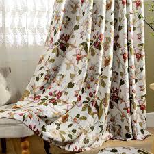Romantische Gardinen Vintage Creme Vorhänge Klassische Blickdicht