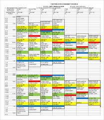 Homework Calendar Excel Assignment Schedule Template 7 Free Word Excel Pdf