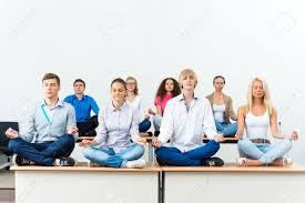 office meditation. Simple Office Group Of Young People Meditating In Office At Desk Meditation Stock  Photo  26869573 With Office Meditation