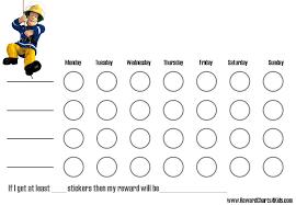 weekly reward chart printable fireman sam charts