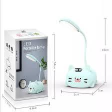 Đèn bàn học hình heo thú đáng yêu sạc tích điện đèn led đọc sách chống cận cho  trẻ học sinh