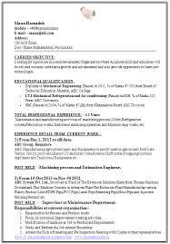 Maintenance Job Resume Objective Mechanical Engineer Cv Resume Examples For Jobs Resume Objective For