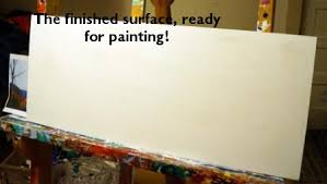 notice how the surface is stiff and smooth it s ready for painting  on create your own canvas wall art with make your own canvas create canvas wall art feltmagnet