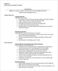 Cv For Teaching Sample Teaching Cv Template 8 Download Free Documents In Pdf Word