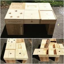 wine crate furniture. wine crate coffee table diy project furniture e