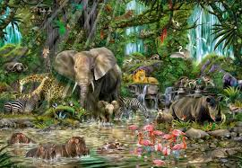 wild animals in african jungle. Modren African African Jungle Inside Wild Animals In I
