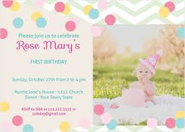 Invitations Card For Birthday First Birthday Invitations 40 Off Super Cute Designs Basic Invite