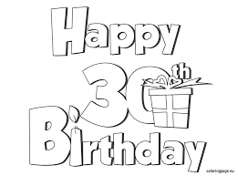ecf39b295133b80133b54b4a2b719ee4 happy 30 birthday coloring page birthday pinterest coloring on printable belated birthday cards