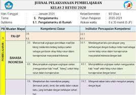 Jurnal harian daring kelas 3 semester 1. Jurnal Harian Kelas 2 Semester 2 Kurikulum 2013 Tahun 2020 2021 Mutu Sd Mutu Sd