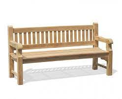 braemar 4 seater teak garden bench 1 8m