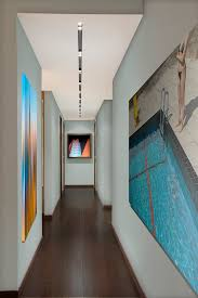 hallway ceiling lighting. led ceiling lights hall contemporary with art artwork baseboards hallway lighting
