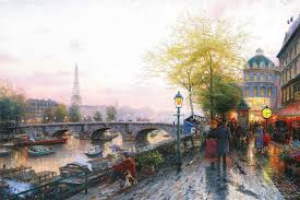 paris eiffel tower kinkade oil paintings art print on canvas no frame no 630 2018 from paintingart 4 83 dhgate mobile