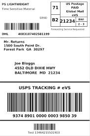 usps barcode format dhl ecommerce generate a shipping label