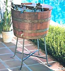 outdoor beer cooler outdoor beverage cart wine barrel beverage cooler farmhouse ice tools and buckets patio outdoor beer cooler