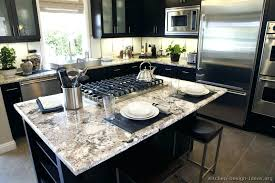 granite kitchen countertops home depot white colors gallery cabinets transitional black island seating