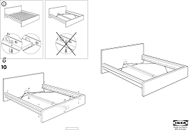 Bed Ikea Bed Frame Instructions Home Interior Design