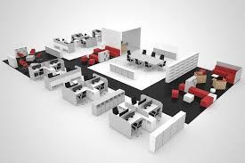 Office Design Plan 3d Office Plan 3d Render Excek