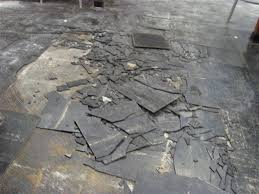 dark asbestos tile removal