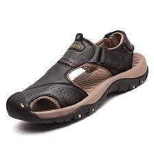 Buy BADI BADI Men Sandals Genuine <b>Split Leather Men</b> Beach ...