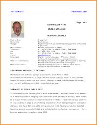 Eugene Venter CV   JCA Format Sales Executive Exemple de CV