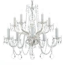 gallery light all crystal silver chandelier 10 armstrong large