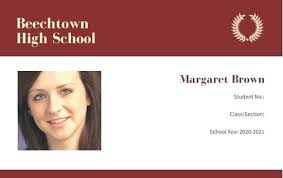 Blank School Id Template School Id Card Template Free High Download By Student Report