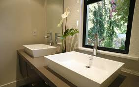 modern bathroom vessel sinks. zen bathroom transitional kelly deck design modern vessel sinks