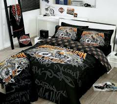 harley davidson bedding comforter set queen size modernist