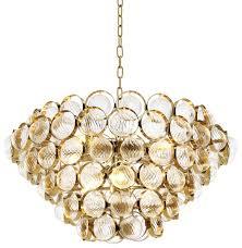 Casa Padrino Luxus Kronleuchter Gold ø 72 X H 40 Cm