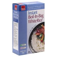 bag of white rice. Simple Bag Boil In Bag Instant White Rice On Of