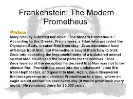 frankenstein the modern prometheus frankenstein