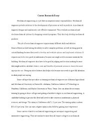 career research essay for senior portfolio engineer mechanical  career research essay for senior portfolio engineer mechanical engineering