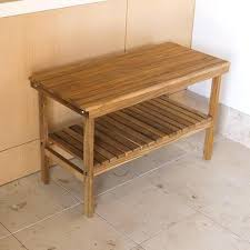 wall mounted folding teak shower bench with slats