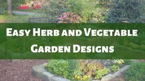 easy herb and vegetable garden designs ilration slide