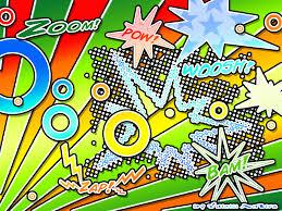 pop art wall paper design