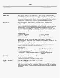 Stage Management Resume Professional Correct Format A Resume Lovely