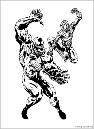 First of all, we would like to colorize venom. Spiderman And Venom Coloring Pages Spiderman Coloring Pages Free Printable Coloring Pages Online
